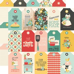 "Papel 12""x12"" Apron Strings Tags"