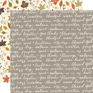 "Papel 12""x12"" Cozy Days Harvest Wishes"