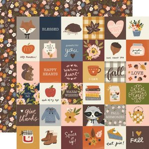 "Papel 12""x12"" Cozy Days 2x2 Elements"