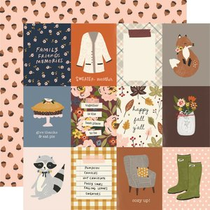 "Papel 12""x12"" Cozy Days 3x4 Elements"