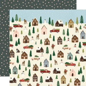 "Papel 12""x12"" Winter Cottage Winter Wonderland"