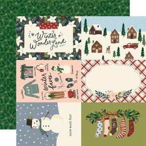 """Papel 12""""x12"""" Winter Cottage 4x6 Elements"""