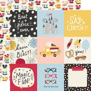 """Papel 12x12"""" Say Cheese Main Street 4x4 Elements"""