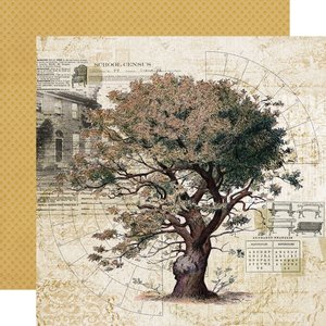 """Papel 12x12"""" Simple Stories SV Ancestry Family Tree"""