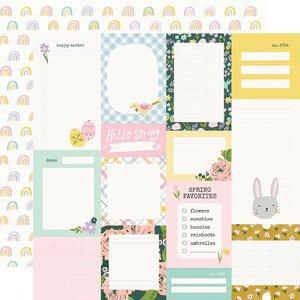 "Papel 12x12"" Bunnies y Blooms 2X2"" Elements"