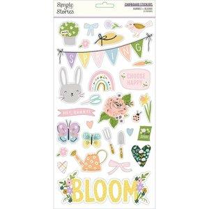 """Chipboard 6x12"""" Simple Stories Bunnies y Blooms"""