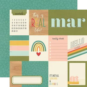 """Papel 12x12"""" Hello Today March"""