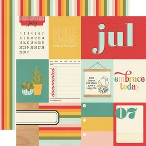 """Papel 12x12"""" Hello Today July"""