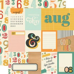 """Papel 12x12"""" Hello Today August"""
