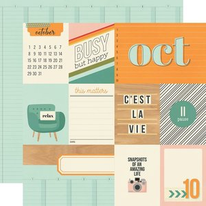 """Papel 12x12"""" Hello Today October"""