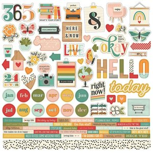 "Pegatinas 12x12"" Simple Stories Hello Today"