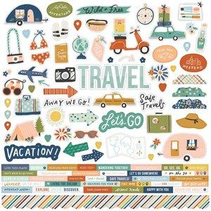 "Pegatinas 12x12"" Simple Stories Safe Travels"
