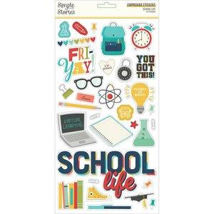 "Chipboard 6x12"" Simple Stories School Life"