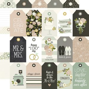 """Papel 12x12"""" Happily Ever After Tags"""
