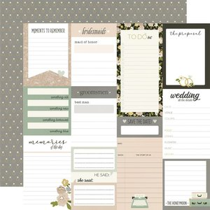 """Papel 12x12"""" Happily Ever After Journal Elements"""