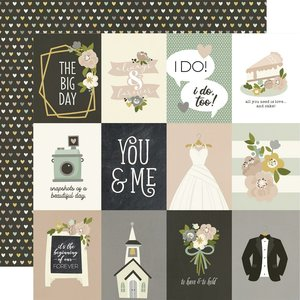 """Papel 12x12"""" Happily Ever After 3X4"""" Elements"""