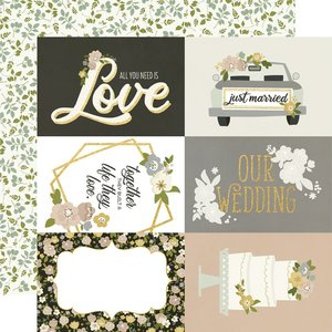 """Papel con foil 12x12"""" Happily Ever After 4x6"""" Elements"""