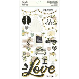 """Chipboard 6x12"""" Simple Stories Happily Ever After"""
