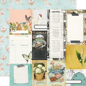"Papel 12x12"" Farmhouse Garden Journal Elements"