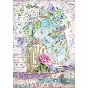 Papel de Arroz A4 Stampería Hortensia Cage
