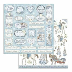 "Papel 12x12"" Stampería Winter Tales Tags & Frames"