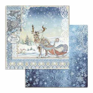 "Papel 12x12"" Stampería Winter Tales Deer"