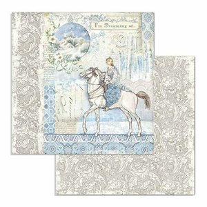 "Papel 12x12"" Stampería Winter Tales Horse"