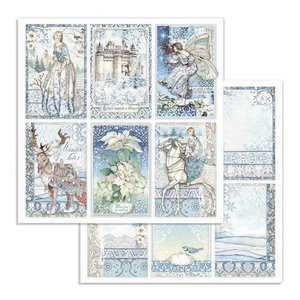 "Papel 12x12"" Stampería Winter Tales Cards"