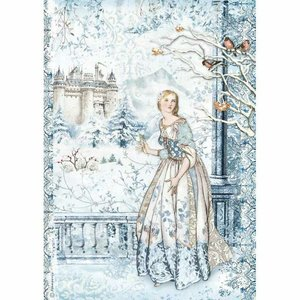 Papel de Arroz A4 Stampería Winter Tales Fairy in the Snow