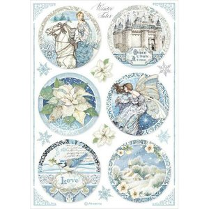 Papel de Arroz A4 Stampería Winter Tales Round Casttle