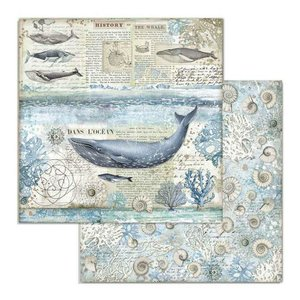 "Papel 12x12"" Stampería Artic Antartic Whale"