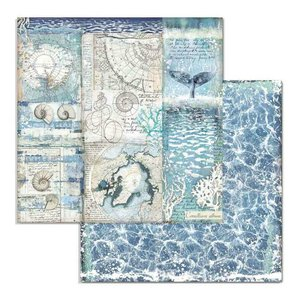 "Papel 12x12"" Stampería Artic Antartic Shelss"