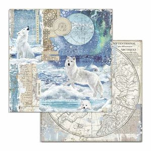 "Papel 12x12"" Stampería Artic Antartic Wolf"