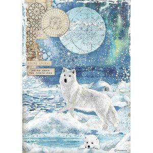 Papel de Arroz A4 Stampería Artic Antartic Wolf
