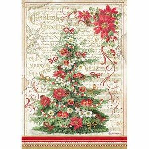 Papel de Arroz A4 Stampería Christmas Greetings Tree
