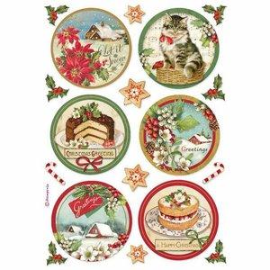 Papel de Arroz A4 Stampería Christmas Happy