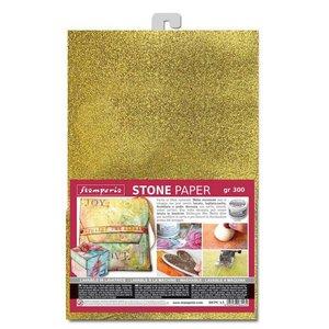 Hoja de papel Especial A4 Stampería Stone Paper Gold