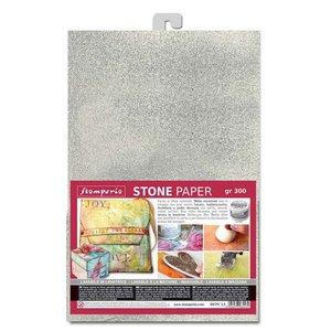 Hoja de papel Especial A4 Stampería Stone Paper Silver