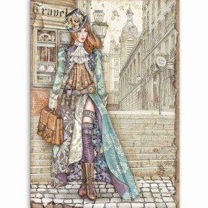 Papel de Arroz A4 Stampería Lady Vagabond