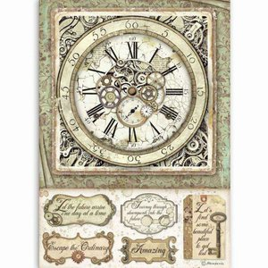 Papel de Arroz A4 Stampería Lady Vagabond Clock