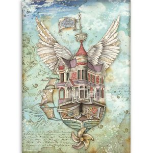 Papel de Arroz A4 Stampería Lady Vagabond Flying Ship