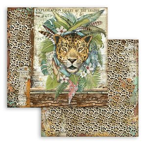 "Papel 12x12"" Stampería Amazonia Jaguar"