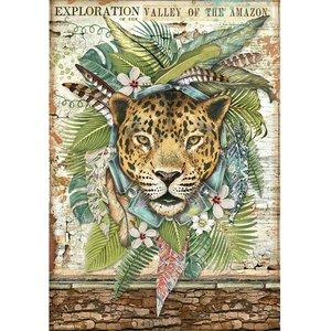 Papel de arroz A4 Stampería Amazonia Jaguar