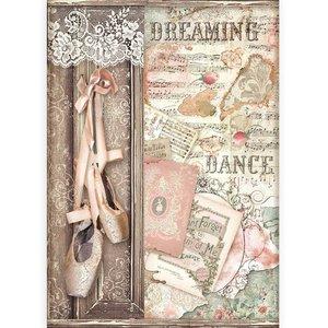 Papel de arroz A4 Stampería Passion Zapatos de Ballet