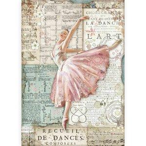 Papel de arroz A4 Stampería Passion Bailarina