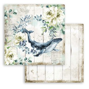 "Papel 12x12"" Stampería Romantic Sea Dreams Ballena"