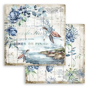 "Papel 12x12"" Stampería Romantic Sea Dreams Tortuga"