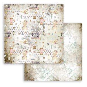 "Papel 12x12"" Stampería Romantic Threads Texturas"