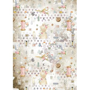 Papel de arroz A4 Stampería Romantic Threads Adornos
