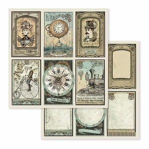 "Papel 12x12"" Stampería Voyages Fantastiques Cards"